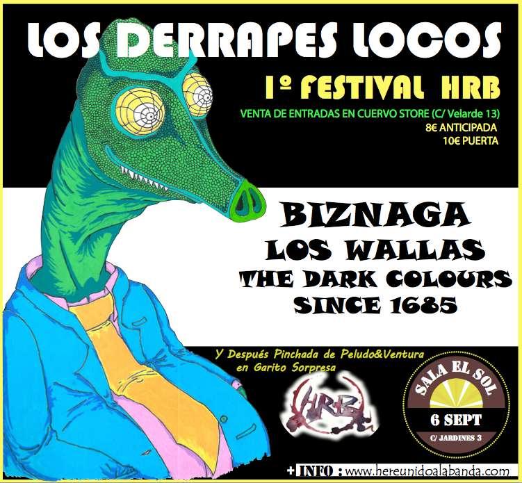 Cartel 1 Festival HRB (Los Derrapes Locos)